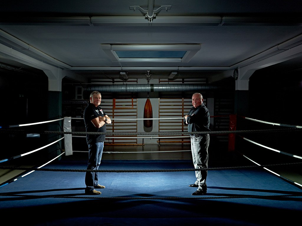 Fritz Sdunek und Ulli Wegner, Boxtrainer